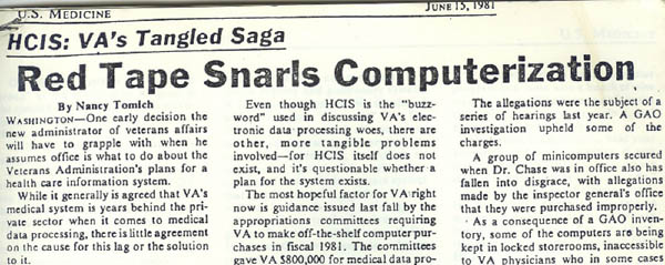 """Red Tape Snarls Computerization"" (June 15, 1981)"
